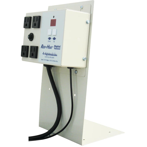 Mounting Plate for Four-Outlet Plant Propagation Thermostat