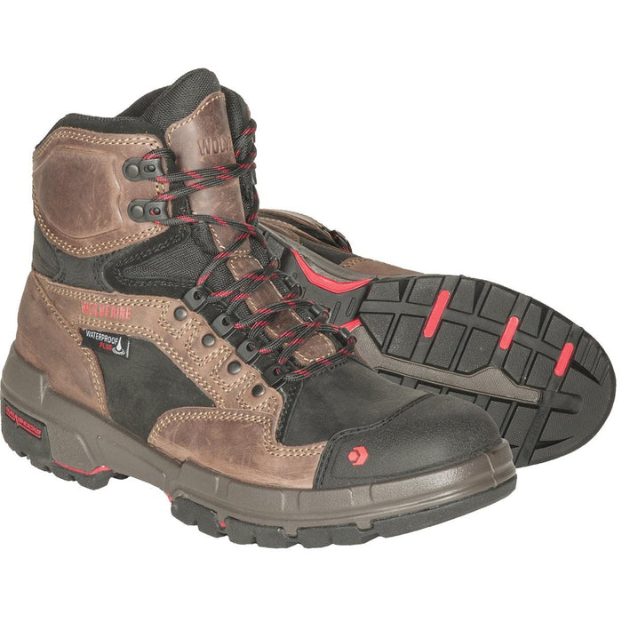 "Wolverine Legend 6""H Waterproof Leather Work Boots"