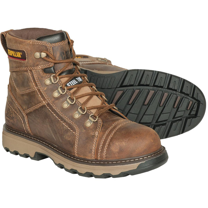"CAT 6""H Granger Leather Work Boots"