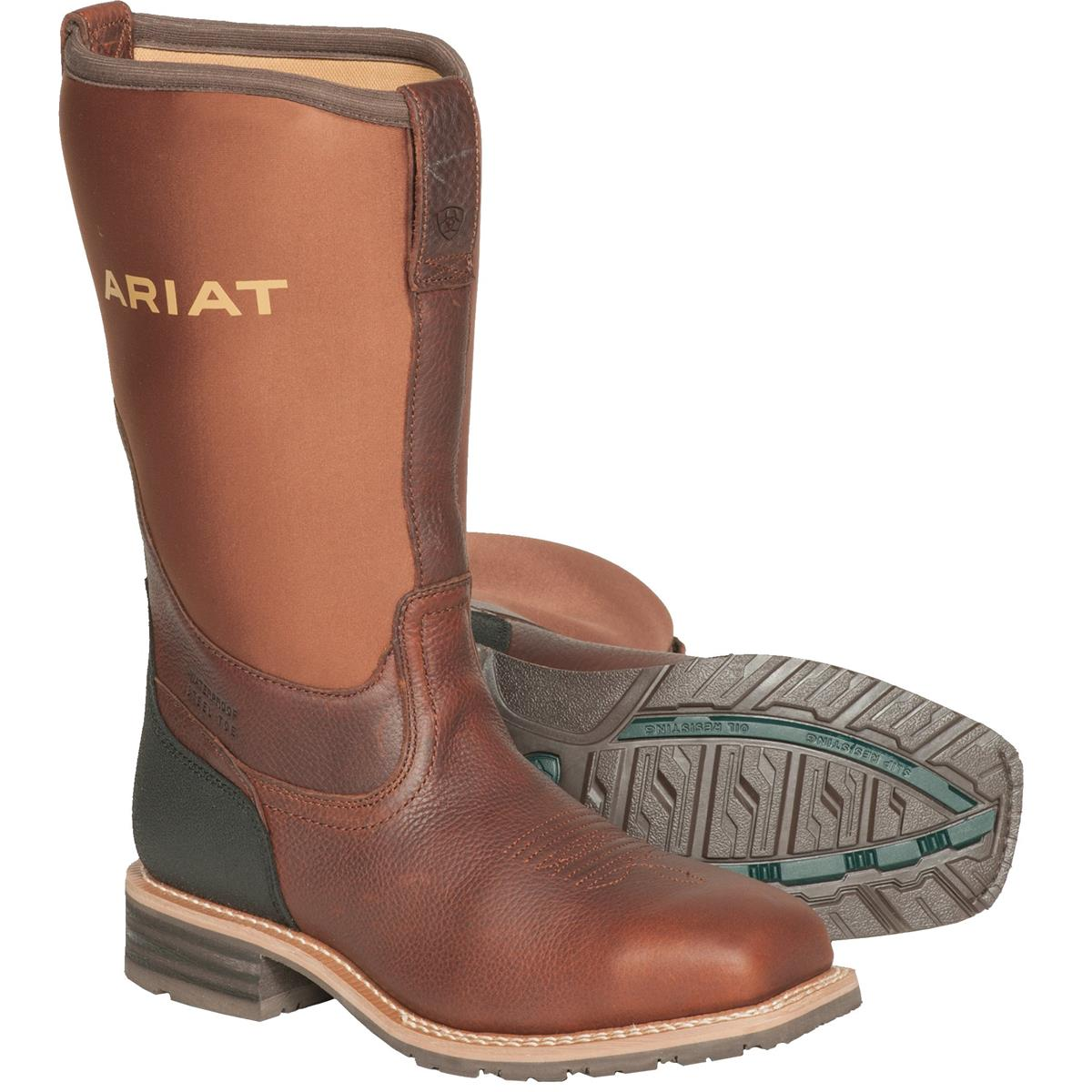 Ariat Hybrid Rancher All-Weather Steel Toe Work Boots