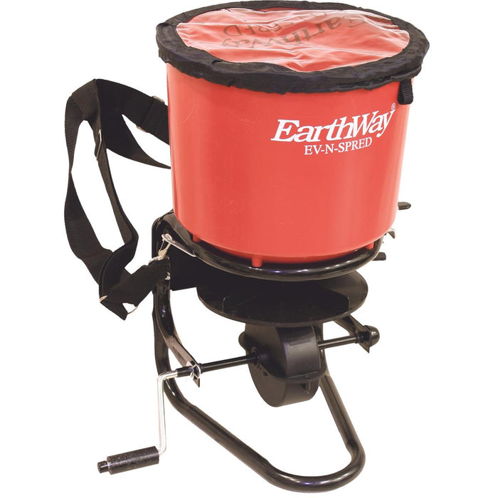 40-lb. Capacity Hand-Crank Broadcast Spreader with Poly Hopper