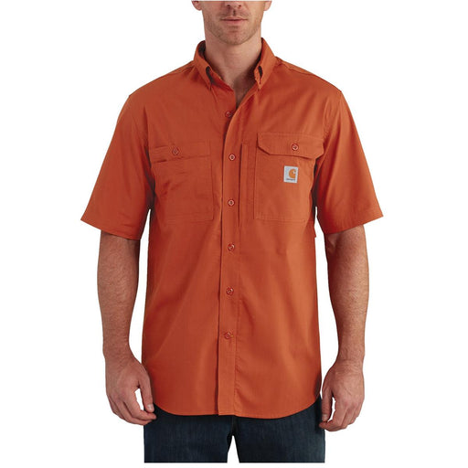 Carhartt 102417 Force Ridgefield Short-Sleeve Shirt, Spice