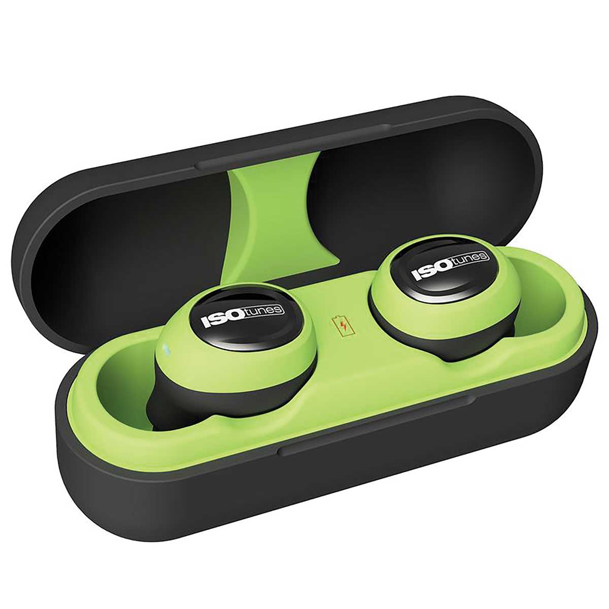 ISOtunes Free Noise-Isolating Hearing Protection Earbuds Black/Green