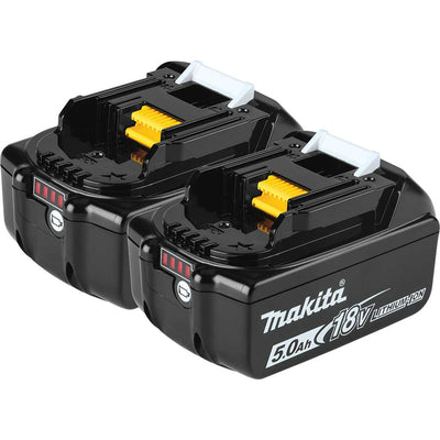 Makita BL1850B-2 18V LXT® Lithium-Ion 5.0Ah Battery, 2/pk
