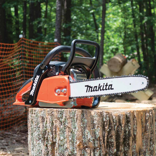 "Makita 42cc 16"" Chainsaw, 3/8"", .050, Safety Red"
