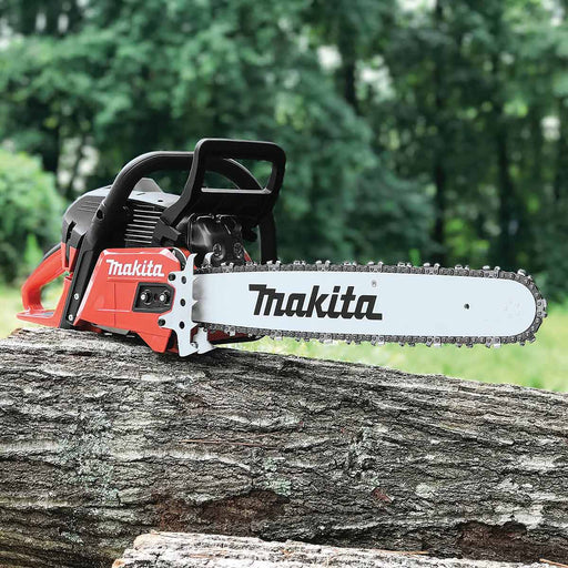 "Makita 56cc 18"" RIDGELINE Chainsaw, 3/8"", .050, Safety Red"