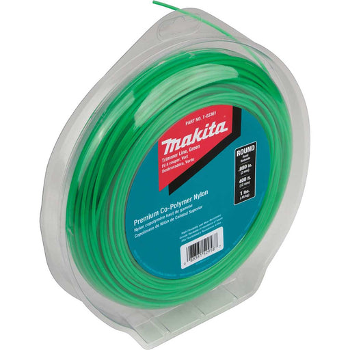 "Makita Round Trimmer Line, 0.080"", Green, 400', 1 lbs."