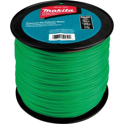 Makita T-03377 Round Trimmer Line, 0.080�, Green, 1,200', 3 lbs.