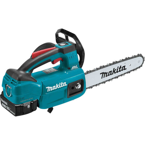 "Makita 18V LXT® Lithium-Ion Brushless Cordless 10"" Top Handle Chain Saw Kit (5.0Ah)"