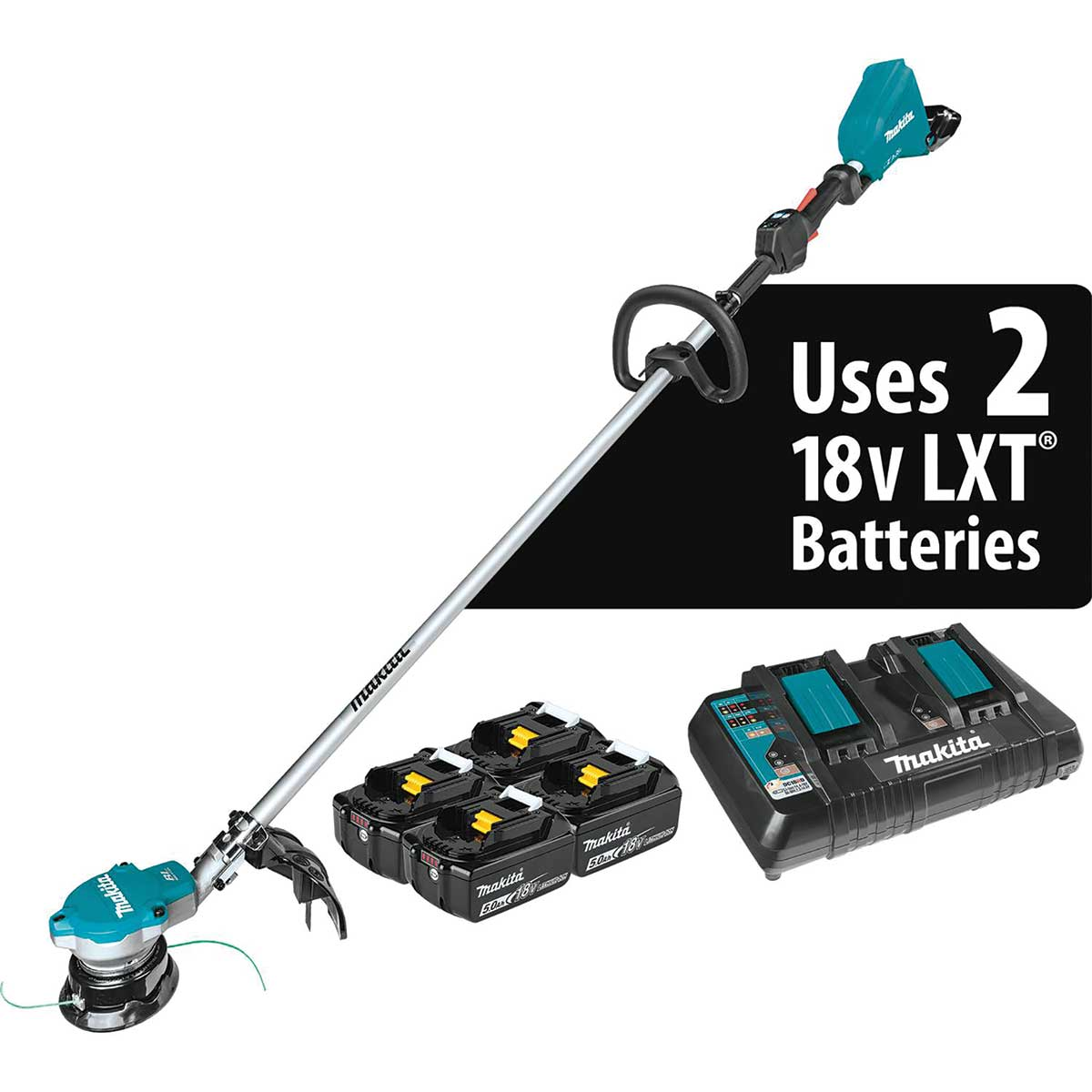 Makita 18V X2 (36V) LXT® Lithium-Ion Brushless Cordless String Trimmer Kit with 4 Batteries (5.0Ah)