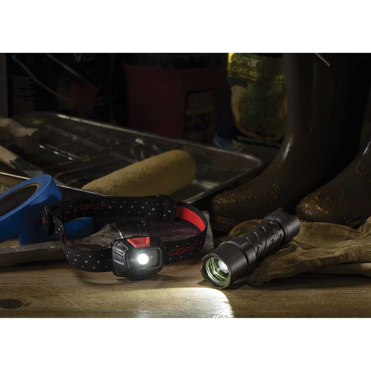 Coast LED Waterproof Focusing Flashlight - Polysteel 200
