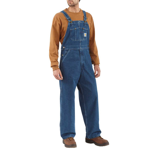Carhartt R07 Bib Overalls, Unlined, Washed Denim