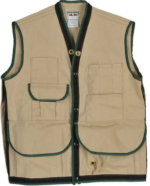 Tan Field Vest with 10 Pockets