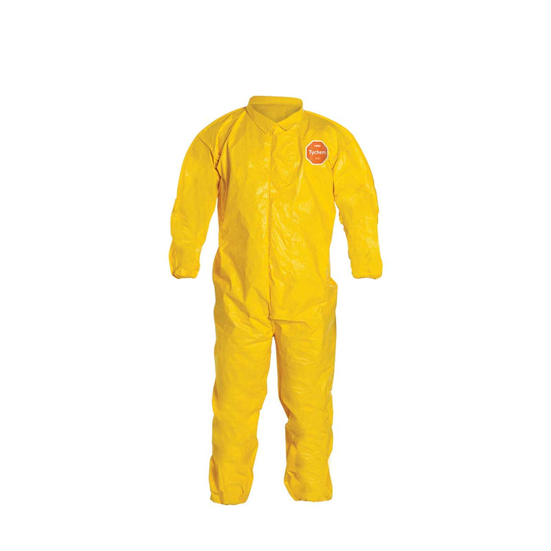 DuPont™ Tychem® 2000 Coverall, Serged Seams, Collar, 12pk