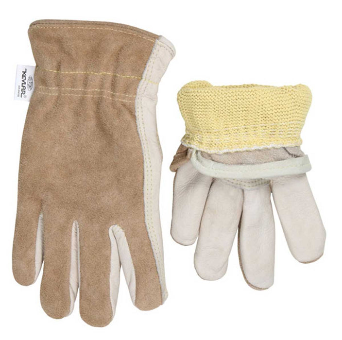 MCR Safety Kevlar-Lined Cowhide Driver's Gloves