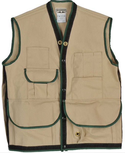 Tan Field Vest with 10 Pockets, 3X