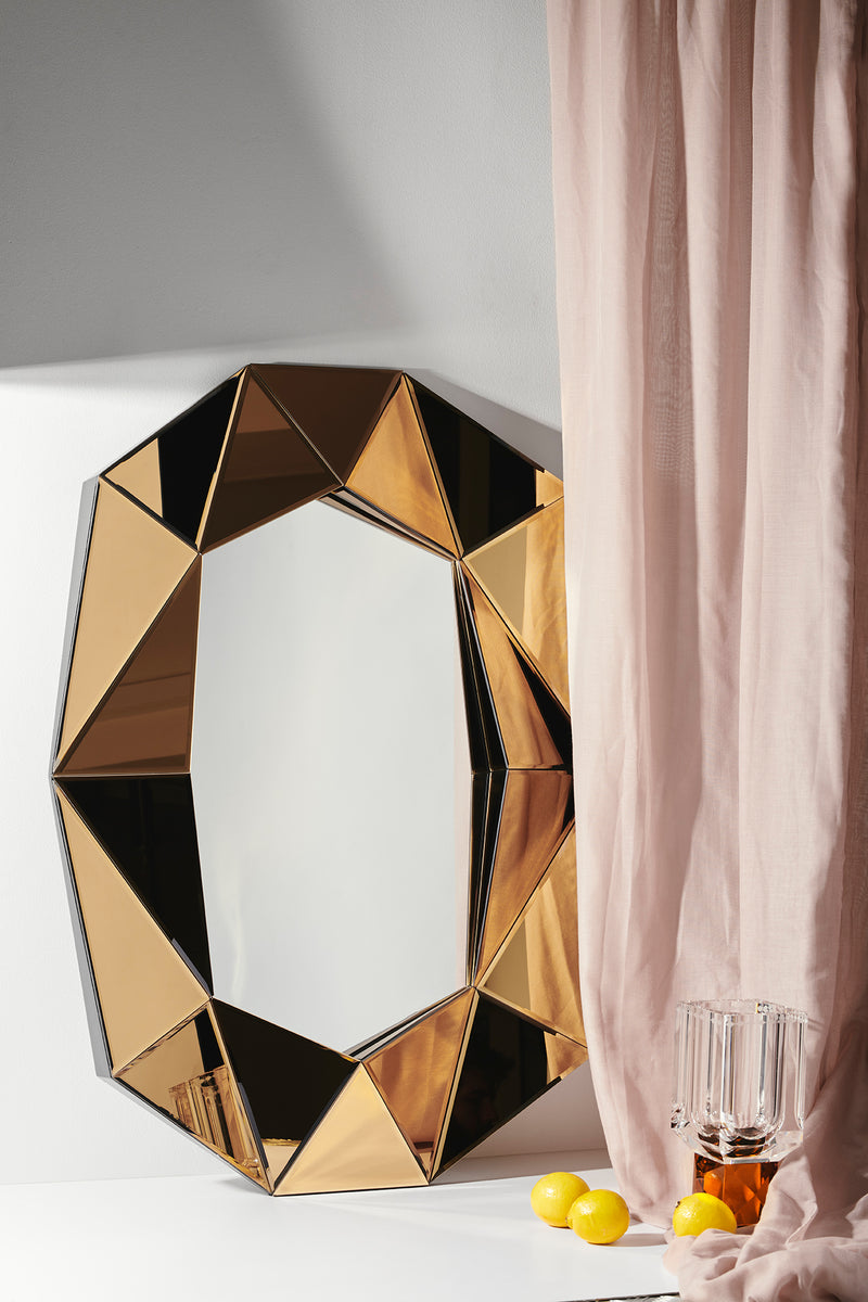 Diamond Large Mirror Bronze