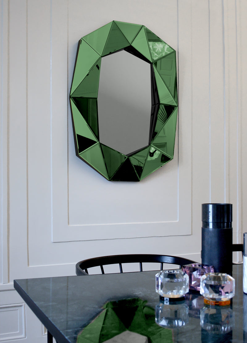 DIAMOND Large Mirror Emerald