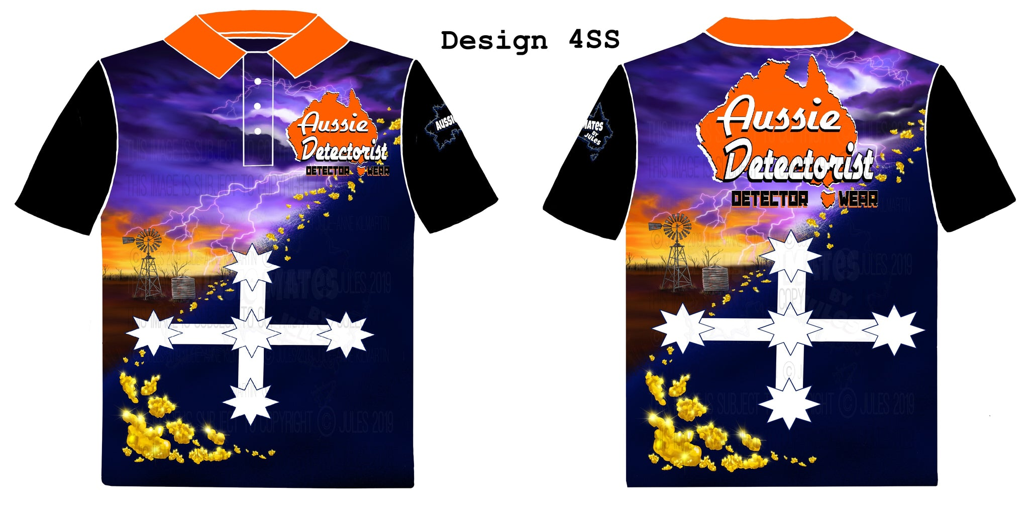 "Aussie Detectorist Detector Wear Design 4SS ""The Storm""Short Sleeve"