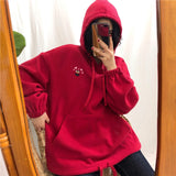 Embroidered Cartoon Hoodie