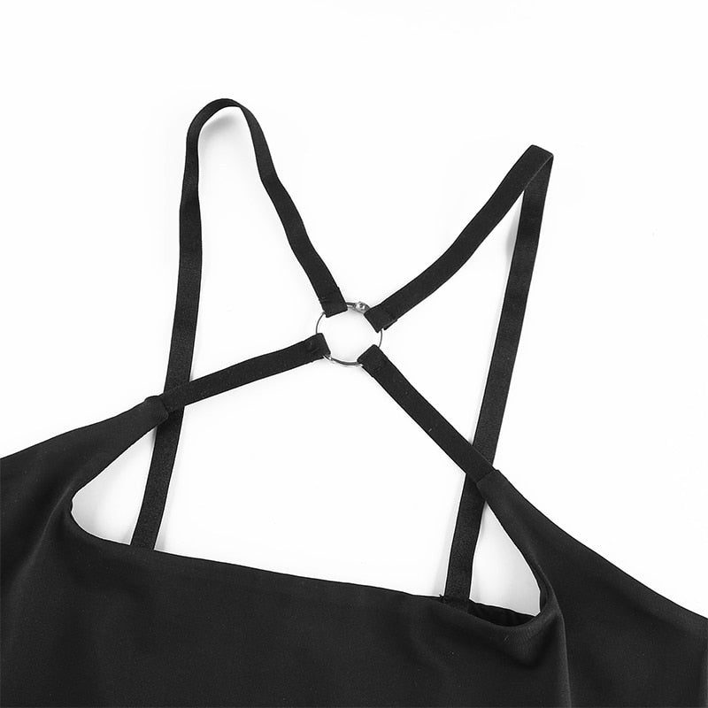 Black Cami Choker Top