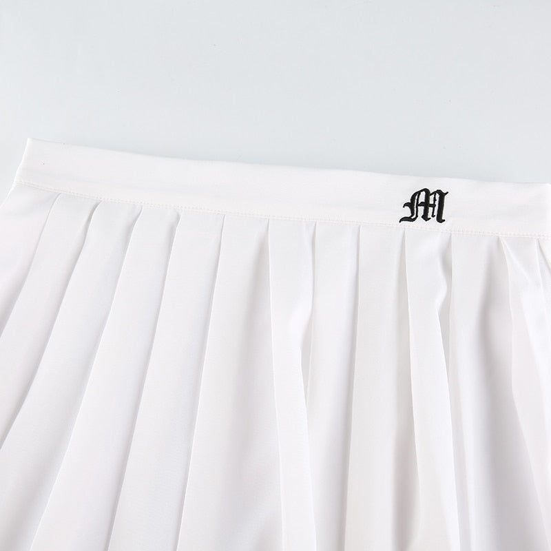 Mini Pleated High Waisted Skirt