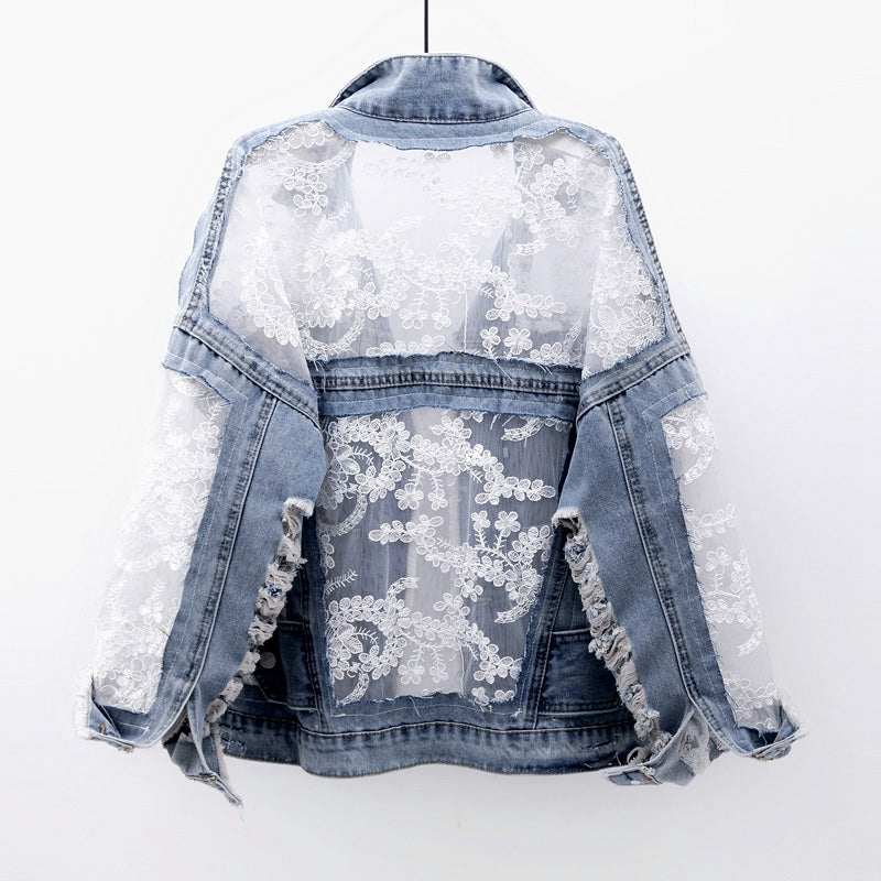 Embroidery Patchwork  Denim Jacket
