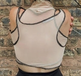 Mesh Tank Top With Sleeve