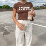 Brown Cowgirl Tee