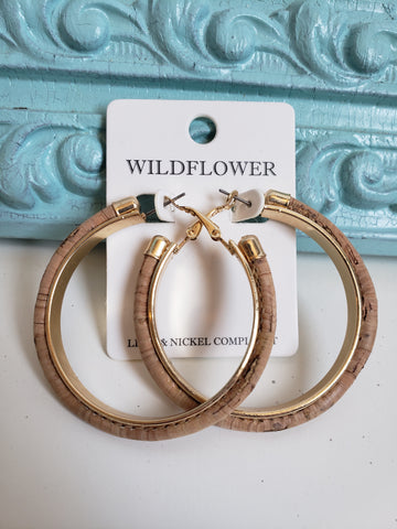 Cork Hoops with Gold Accent