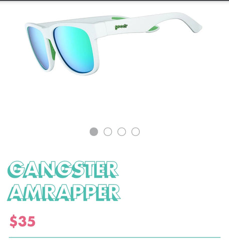 "Goodr Sunglasses ""Gangster Amrapper"" (larger heads)"