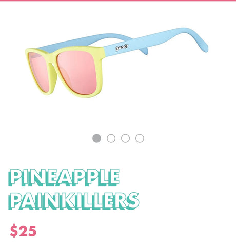 "Goodr Sunglasses ""Pineapple Pain Killers"""
