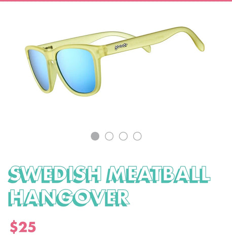 "Goodr Sunglasses ""Swedish Meatball Hangover"""