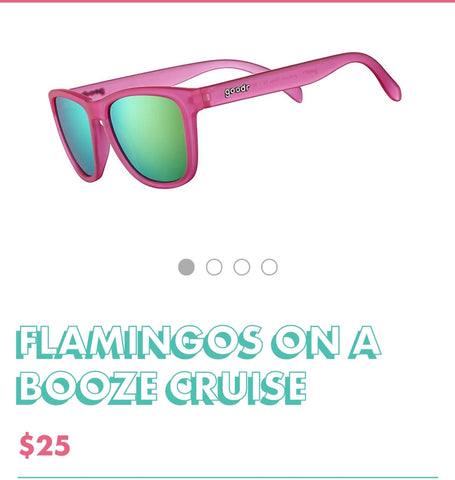 "Goodr Sunglasses ""Flamingos on a Booze Cruise"""