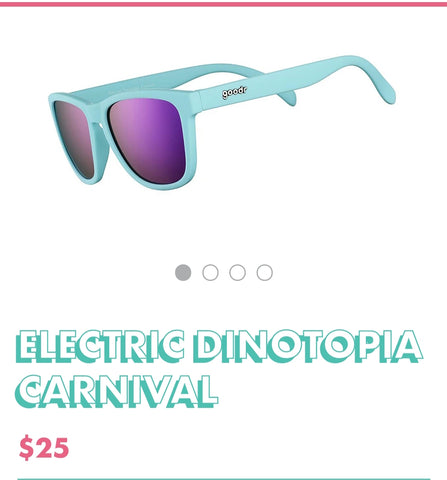 "Goodr Sunglasses ""Electric Dinotopia Carnival"""