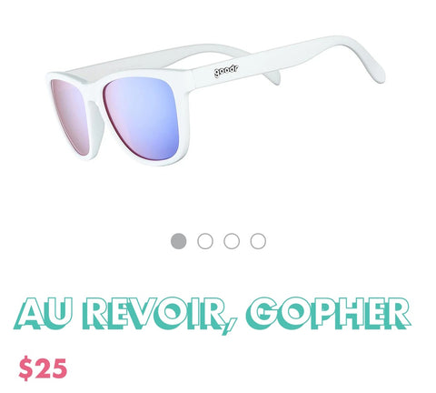 "Goodr Sunglasses ""Au Revoir, Gopher"""