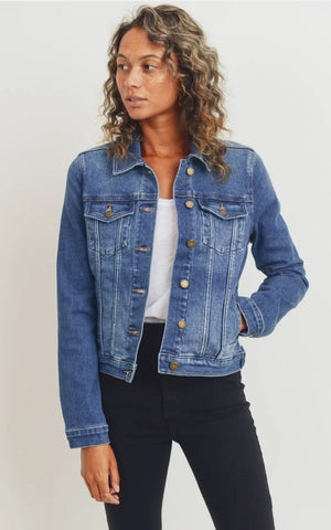 Medium Wash Classic Denim Jacket