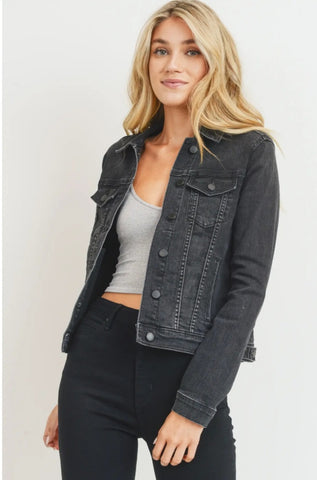 Black Denim Classic Jacket