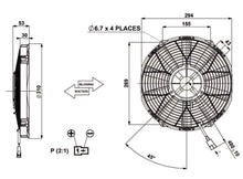 "Load image into Gallery viewer, 11""(280mm) BLOWING FAN 53mm 12V MOTOR.REVOTEC"