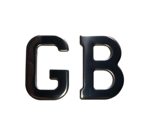 BADGE GB LETTERS STICK ON STAINLESS STEEL