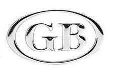 OVAL GB LETTERS CHROME SET 3 PIECE