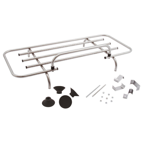 CLIP-ON BOOT RACK, 90x34 CM, STAINLESS STEEL