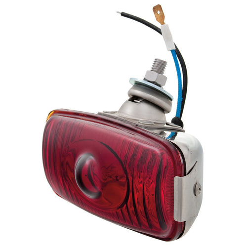 FOG LAMP, RED, 12V 55W, STAINLESS STEEL