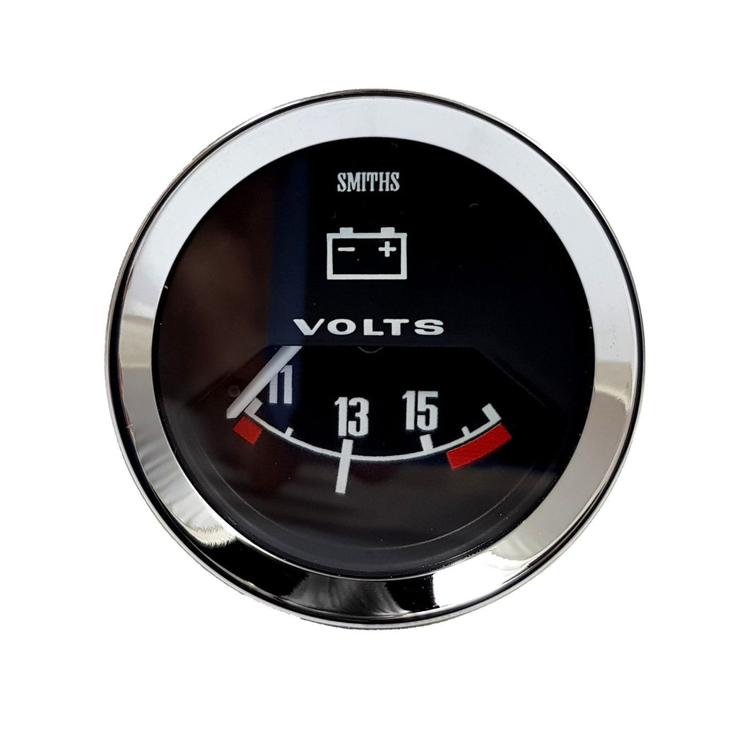 VOLTMETER GAUGE, 52mm, BLACK