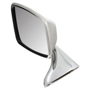 LEFT DOOR MIRROR, FLAT, STAINLESS STEEL, TEX
