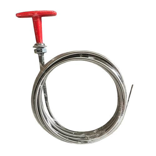 'T' HANDLE PULL CABLE 3M STAINLESS STEEL
