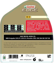 Load image into Gallery viewer, CASTROL EDGE LL 5W30 5L