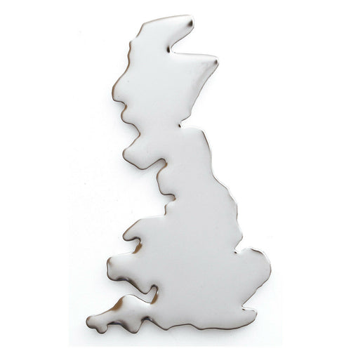 BADGE UK SHAPE STAINLESS STEEL