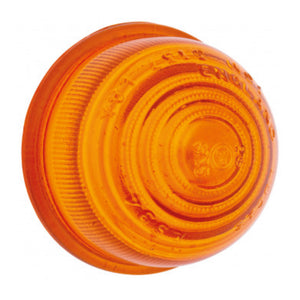 GLASS INDICATOR LENS, AMBER