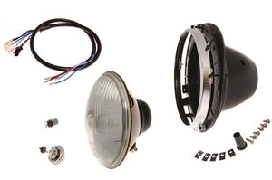 "7"" HEADLAMP ASSEMBLY WITH RIM, LHD"